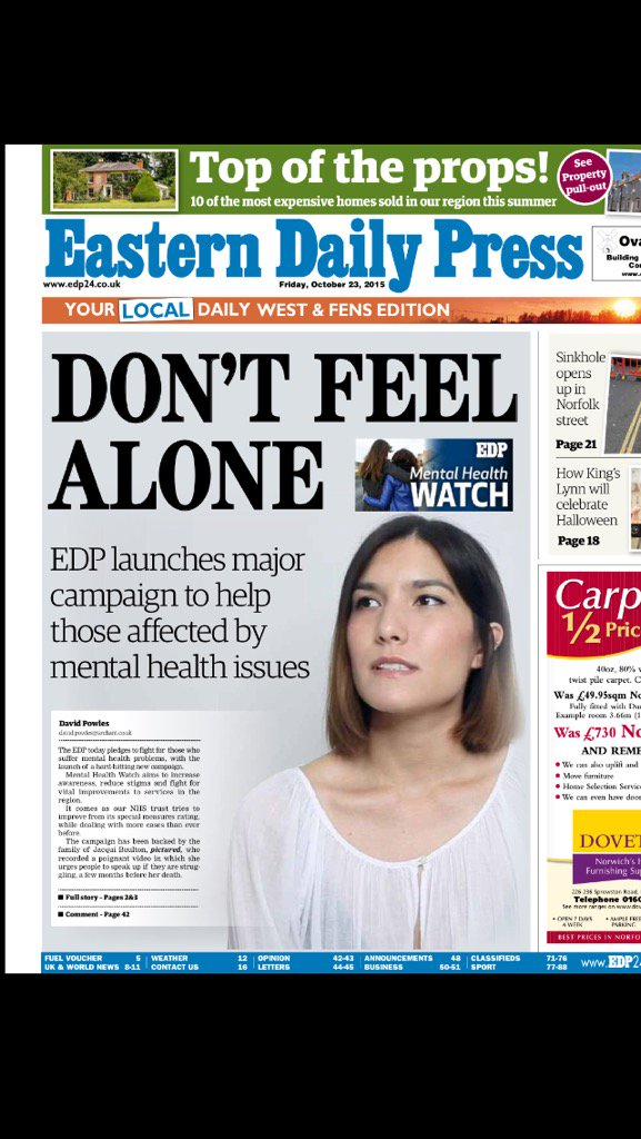 Headline is direct quote from Jacqui Boulton in poignant video she made three months before she sadly died. @EDP24 https://t.co/Bk9ufR6gaz