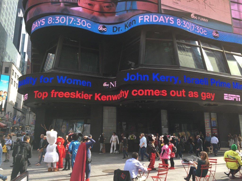 Big news in #NYC today @guskenworthy @espn @ESPN_Alyssa #TimesSquare https://t.co/DWLKA1Z6id