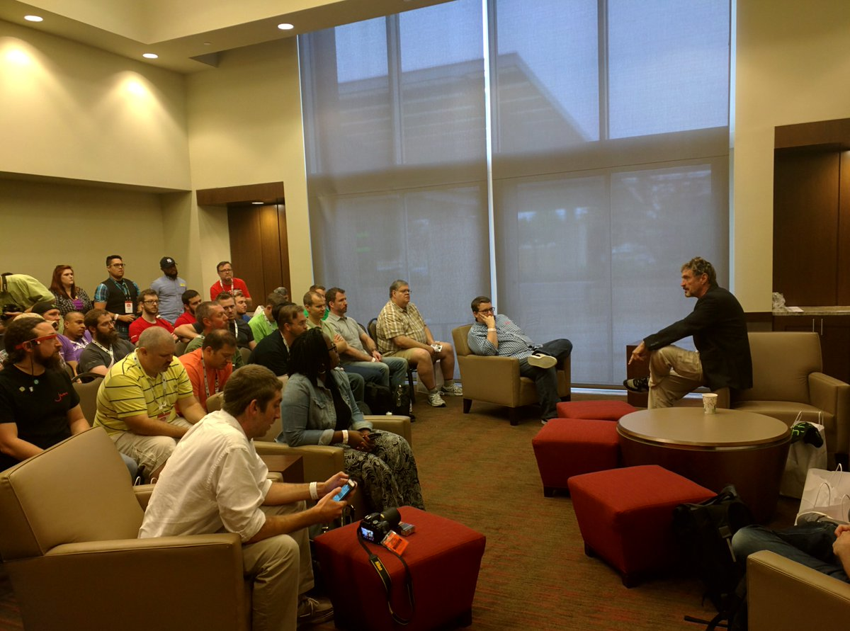 John McAfee talks security at #BABBQ15   #security #OMGWTFBBQ cc @officialmcafee https://t.co/v0KbU30XD4