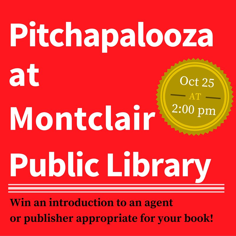 Montclair, #NJ, bring us your pitches! Sunday, October 25. #getpublished #amwriting https://t.co/u5AFyBuYxM https://t.co/1xJIR83Yvv