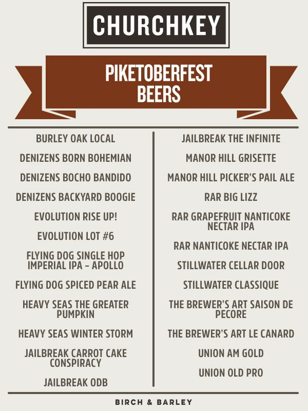 24 fine Maryland brews = what we'll be pouring at the pop-up #beer garden @pikeandrose #Piketoberfest on Sunday! https://t.co/aJvV7owCGt