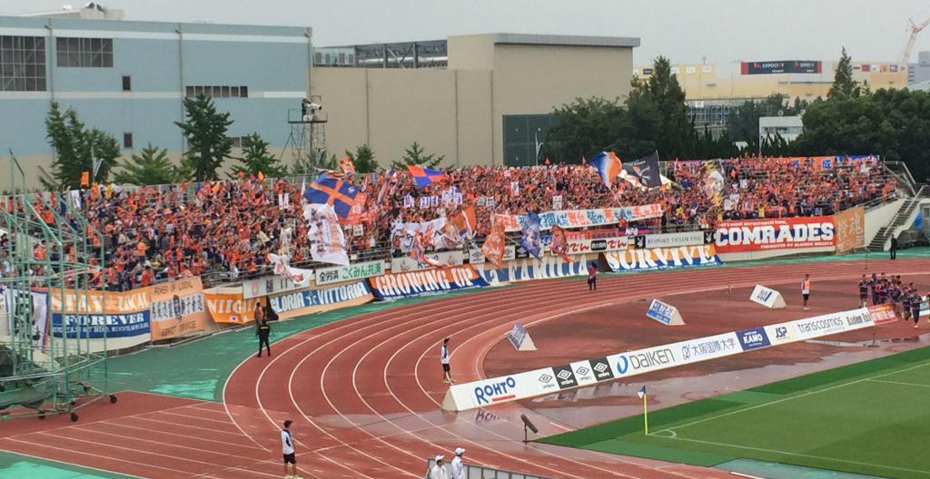 今日のアウェイゴール裏アルビレックス新潟サポーター #ガンバ大阪 http://t.co/v4G7Yp3jZU
