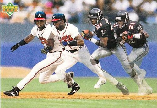 23 yrs ago today 1992 ~ Deion Sanders suits up for NFL (#Falcons) & MLB (#Braves) on the same day. http://t.co/4aBJRTR6Iq (@BeforeFamePics)