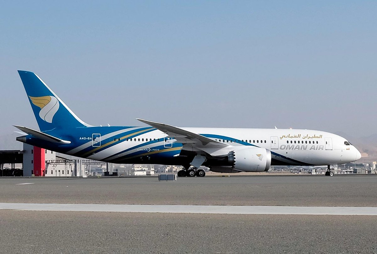 It has arrived! #Dreamliner  Oman Air celebrates the delivery of the airline's first Boeing 787 Dreamliner.  #omanair http://t.co/jhc3jdCrYY
