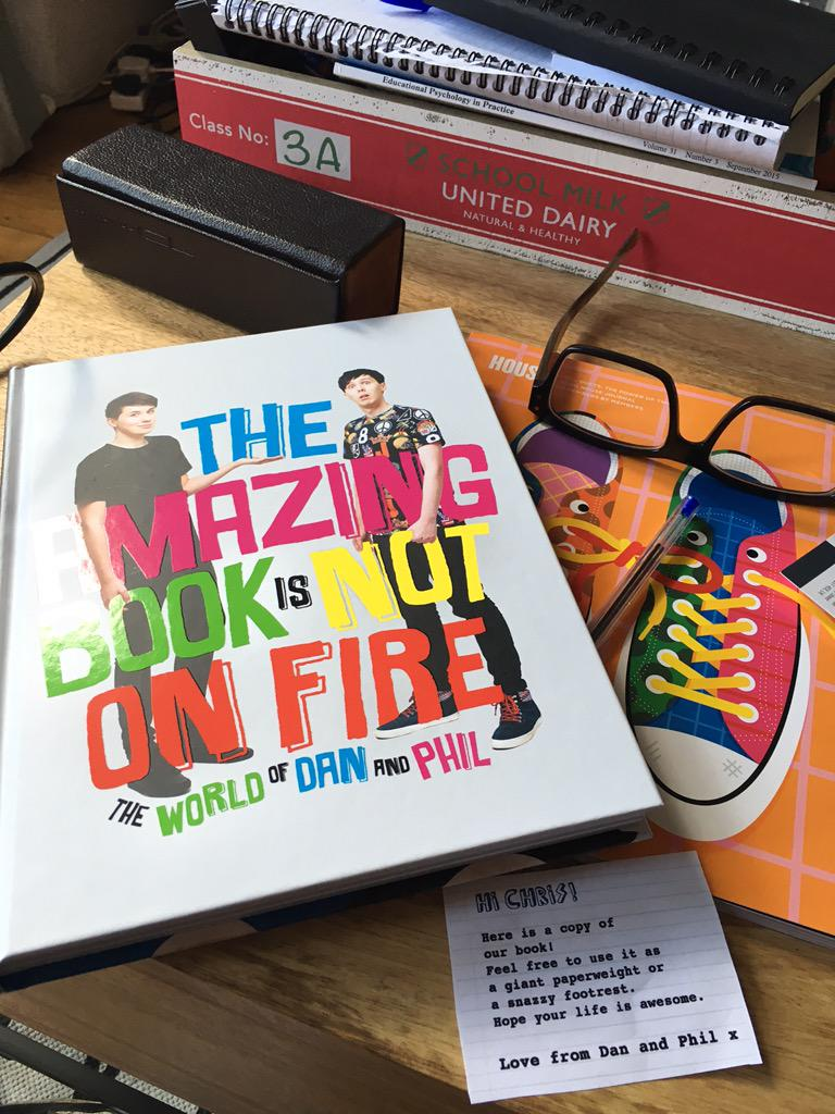 Well @danisnotonfire & @AmazingPhil send the best promotionally strong gifts. The book is brilliant. Lots of lols http://t.co/pNXi9T9vOv