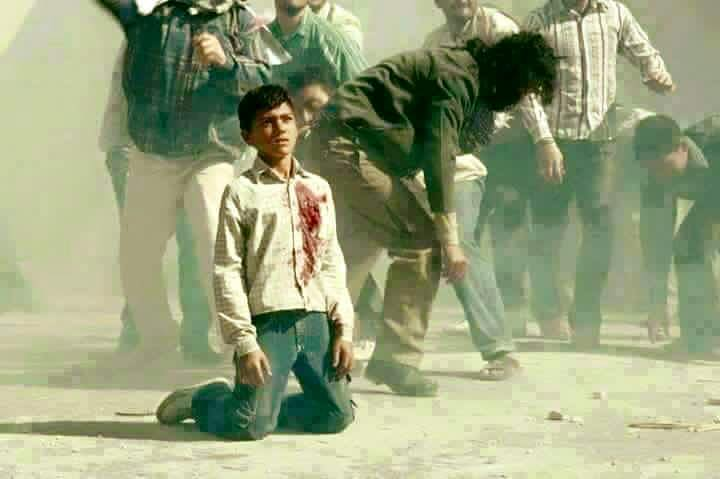 """This image is being spread as """"palestinian kid killed in 1st Intifada.""""  It is from a movie http://t.co/pCdLv4rT8e http://t.co/Q7WN7HDme5"""
