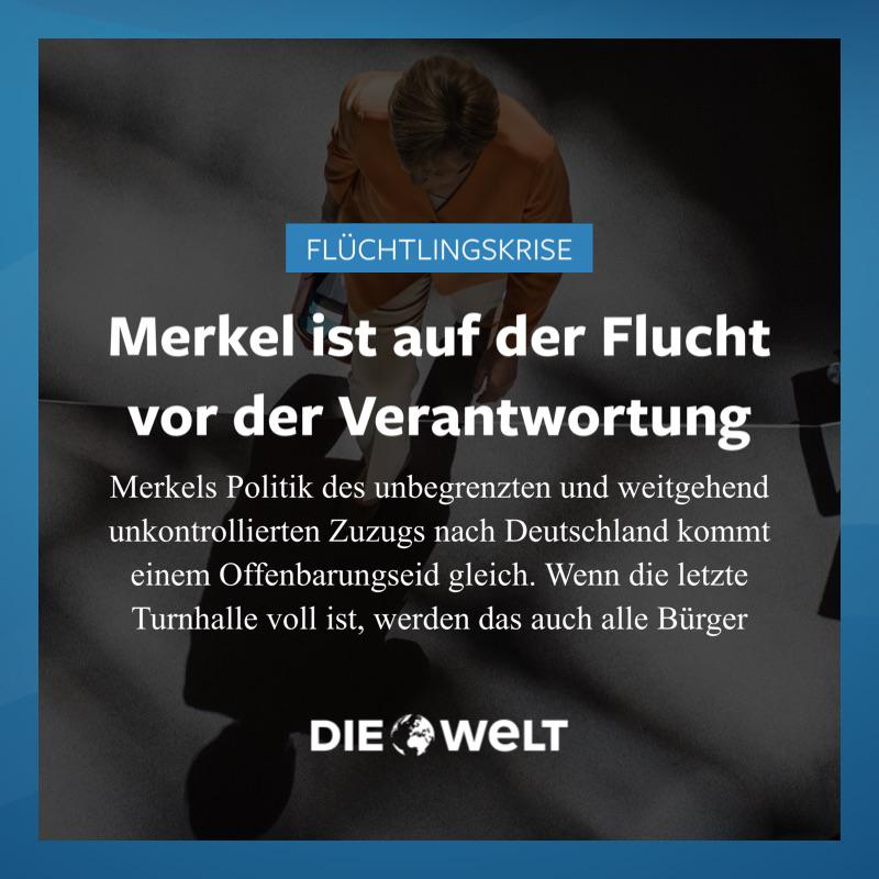 Flüchtlingskrise: Merkel ist auf der Flucht vor der Verantwortung http://t.co/Ed2j9W6R8m http://t.co/MPYDuayc2X