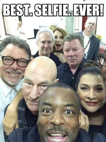 Is this coolest selfie ever? #trekitout #startrek #tng #makeitso http://t.co/NdLBbGxqif
