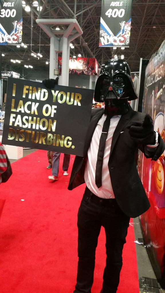 Probably my favorite costume at #nycc : Darth Lagerfeld. http://t.co/FDlMoADbv1