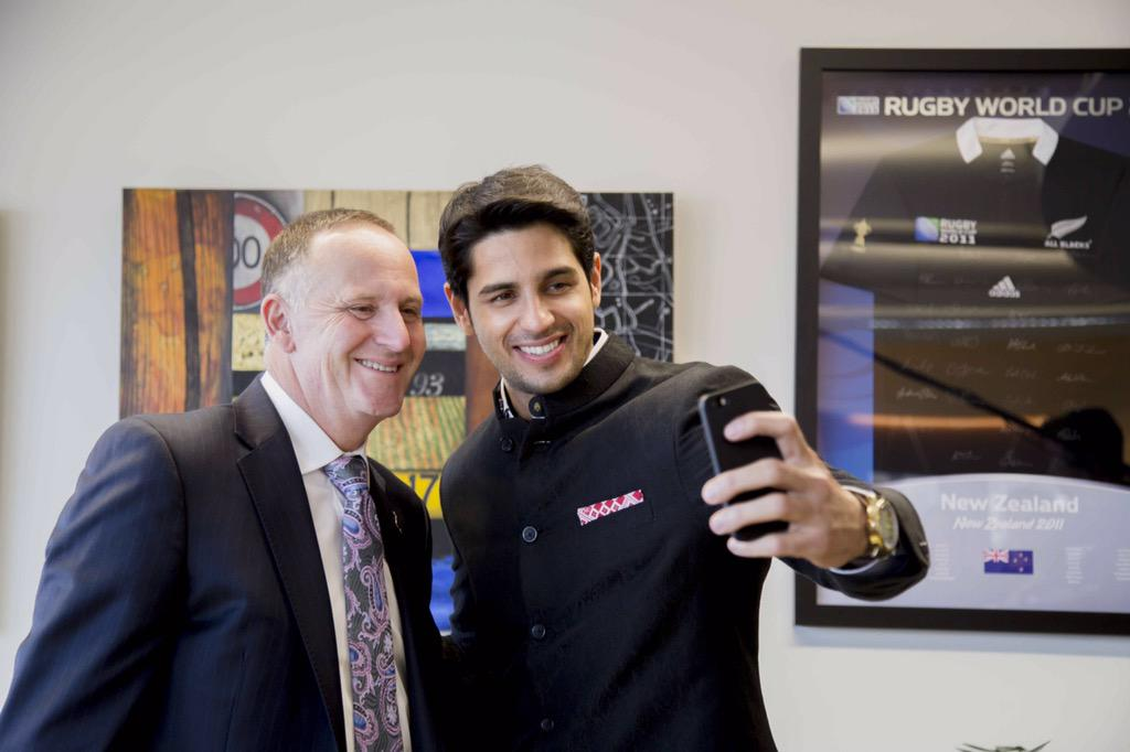 Met Bollywood star, and NZ's new Tourism Ambassador to India, @S1dharthM. http://t.co/axaebEtf5s