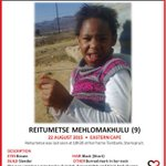 Eastern Cape please share until she is found, her mother is struggling to eat and sleep. http://t.co/f4hMUmeFtF