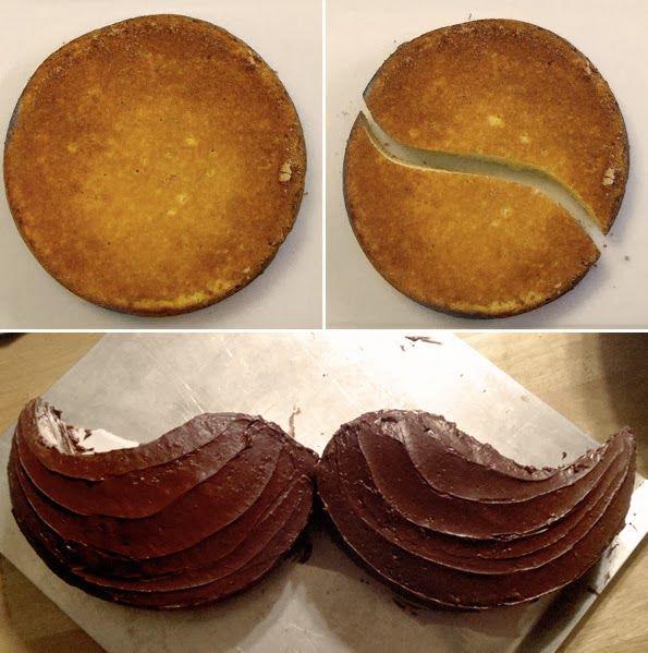 إقطعي قالب الكيك الدائري على هذا النحو لتحصلي على شكل شوارب ثمّ زينيه بالكريمة  #كيك #السعودية #غرّد_بصورة http://t.co/mOfxhLoTDg