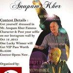 RT @ap_mum: Isn't #NitishArora 's bald look to meet his favourite actor @AnupamPkher amazing? #KucchBhiHoSaktaHai #Delhi