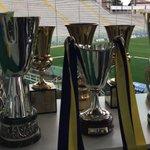 Eccole tutte le nostre otto coppe nella nostra casa, lo stadio Ennio Tardini... Bentornate !!! http://t.co/0CjOiKyfQ5