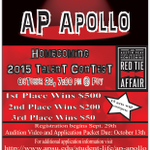 Deadline to submit an audition video for AP Apollo is tomorrow night! Enter now to win up to $500! #apsu #homecoming http://t.co/paCwgGNCO7