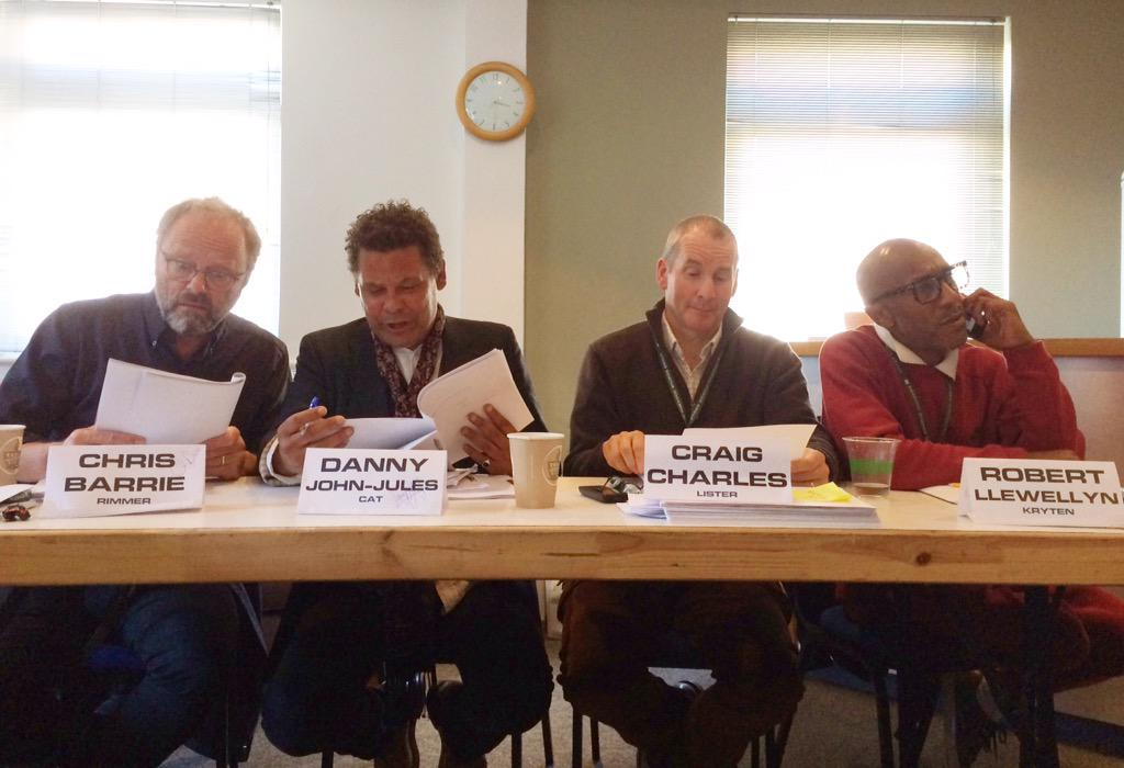 Red Dwarf day 1 script workshop, nothing to report... http://t.co/WQVpvxlhTO