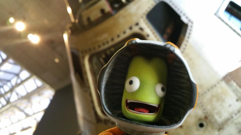Hail Columbia! Jeb looks at home next to this command module! @KerbalSpaceP @airandspace #JebIsMyCopilot http://t.co/BIhGwD9jfe