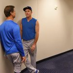 Don Mattingly and Chase Utley speak before Game 3 of the #NLDS. #Dodgers http://t.co/8yGdfpAVuH
