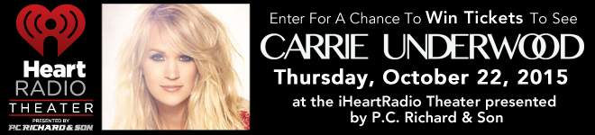 Carrie Underwood is coming to the #iHeartRadio Theater pres. by #PCRichard! http://t.co/in5RcQMBjT http://t.co/IwA0CJyNfv