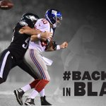 One year ago today: #BlackSunday One week from today: #BackInBlack #Eagles to rock all black everything on #MNF http://t.co/5auIHjM1dM