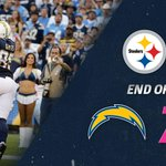 End of the first quarter. #Chargers, 7 Steelers, 0 ⚡⚡⚡⚡⚡ http://t.co/6tLSpBPdTJ