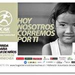 Corrida solidaria por Hogar de niños San Vicente..muchos de ellos son mis alumnos y se que necesitan el apoyo! :) http://t.co/iXvIu356tH