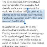 A bizarre side-effect of publishing power shifting to social media: Playboy kills nudity. http://t.co/LEywGrdukh http://t.co/M1di25bzjA