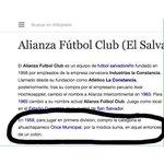Alianza, el más grande de El Salvador. Felices 56 años en primera división http://t.co/TTA1uraoUk