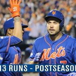 Our 13 runs tonight set a new franchise record for most runs in a #postseason game. #MetsMilestones #Mets #LGM http://t.co/ClpzbnmoLg
