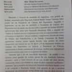 Íntegra da liminar de Teori suspendendo decisão de Cunha sobre rito do impeachment na Câmara http://t.co/Q2CYm07QAE http://t.co/hM9OGLxeR2