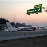 UPDATE: Here are some photos from the airplane thats landed on Interstate-84 near Orchard: http://t.co/ZTvMGAytCX http://t.co/WyDl71rorw