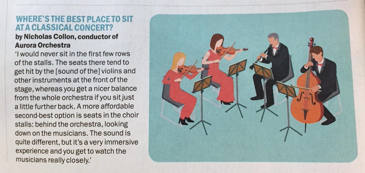 The best place to sit at a classical concert? @auroraorchestra's @nicholascollon gives his top tips to @TimeOutLondon http://t.co/MfsK8D2lXg