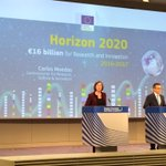 In press conference on the new Work Programme for @EU_H2020, LIVE now: http://t.co/fPCu9gt1lR #H2020 http://t.co/kGKnTZeU56