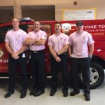 "Waterloo Firefighters ""Care Enough to Wear Pink"". Help us support this great campaign! #BreastCancerAwareness http://t.co/ELZrkb0Owt"