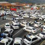 Al momento no hay salida de unidades a los diferentes destinos por protesta de taxistas en diferentes punto de ciudad http://t.co/F4PjOzUugL