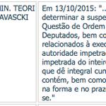 Teori suspende decisão de Cunha sobre rito do impeachment na resposta a questão de ordem. Dep. do PT acionaram o STF http://t.co/p02zl9M6lN