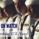 Happy Birthday @USNavy! We thank you for your bravery, your service, and your sacrifice. #navybirthday http://t.co/ICJ1DQwEVy