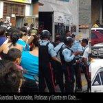 #TrancaEnMerida Av Centenario altura Guerrero,Guardias Nacionales,Policias y gente en cola en este sector de #Merida http://t.co/U0EeihqL2X