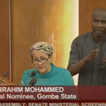 #MinisterialScreening Anima Ibrahim Muhammad now answering questions at floor of the @NGRSenate http://t.co/E8gHCLF3lw
