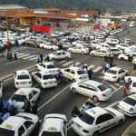 10:30am 13O Calles d Merida se encuentran tomadas por taxista q protestan por inseguridad y escasez #TrancaEnMerida http://t.co/GtGzzUNBbt