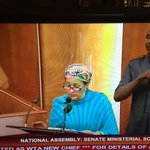 @AminaJMohammed @ Nigeria Senate for #MinisterialScreening.Speaks about #SDGs, acknowledges #Nigeria on @myworld2015 http://t.co/xk9t8EHRpd