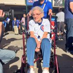 Loretta only waited 101 years & 2 months to see a @cubs playoff win at Wrigley. @cbschicago http://t.co/lEqZtqmHmF http://t.co/c3wNsx8h8B