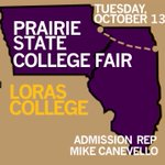 Know a potential Duhawk? Loras will be at Prairie State from 6-8 tonight to talk all that is Loras #bemore http://t.co/qpmYLaMKSZ