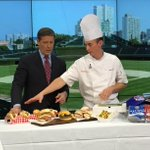 .@Cubs Executive Chef David Burns visited @GoodDayChicago to share #WrigleyFields playoff menu with @CoreyMcPherrin. http://t.co/zF26iRhul2