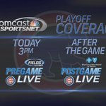 .@Cubs-#STLCards #NLDS Game 4 today! Catch Pregame Live from Wrigley Field at 3pm! #CubsTalk #FlyTheW http://t.co/dsIgimlHZ1