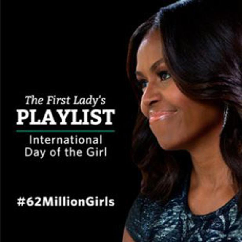 Honored 2 be part of @MichelleObama's 1st @Spotify playlist...  #ALittleParty #62MillionGirls https://t.co/p9yusaNKRq http://t.co/CP4QI7ncpN