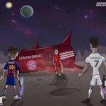 Lionel Messi et Cristiano Ronaldo ont un nouvel habitant sur leur planète... http://t.co/k5vAgvcpUt