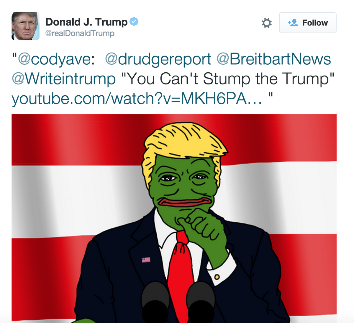 Donald Trump retweeted a very wrong set of numbers on race