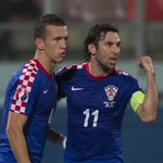 Captain @SrnaDarijo and goalscorer @IperiOfficial celebrate #Croatia lead at #Malta in @EuroQualifiers. #BeProud http://t.co/ngeSDxX4yl
