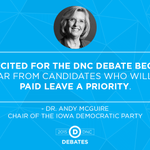 #DemWomen in Iowa & across the country are tuning in for the #DemDebate tonight, on @CNN & http://t.co/1m3DYCNeIL. http://t.co/RXQWdakSwA